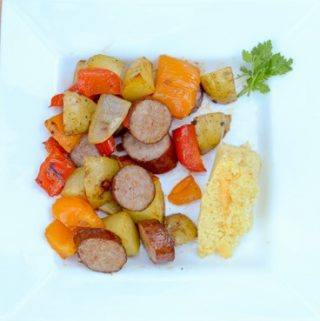 sausage-roast-pan-dinner