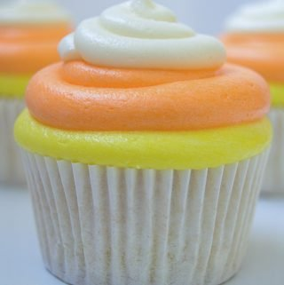 Candy Corn Inspired Cupcakes