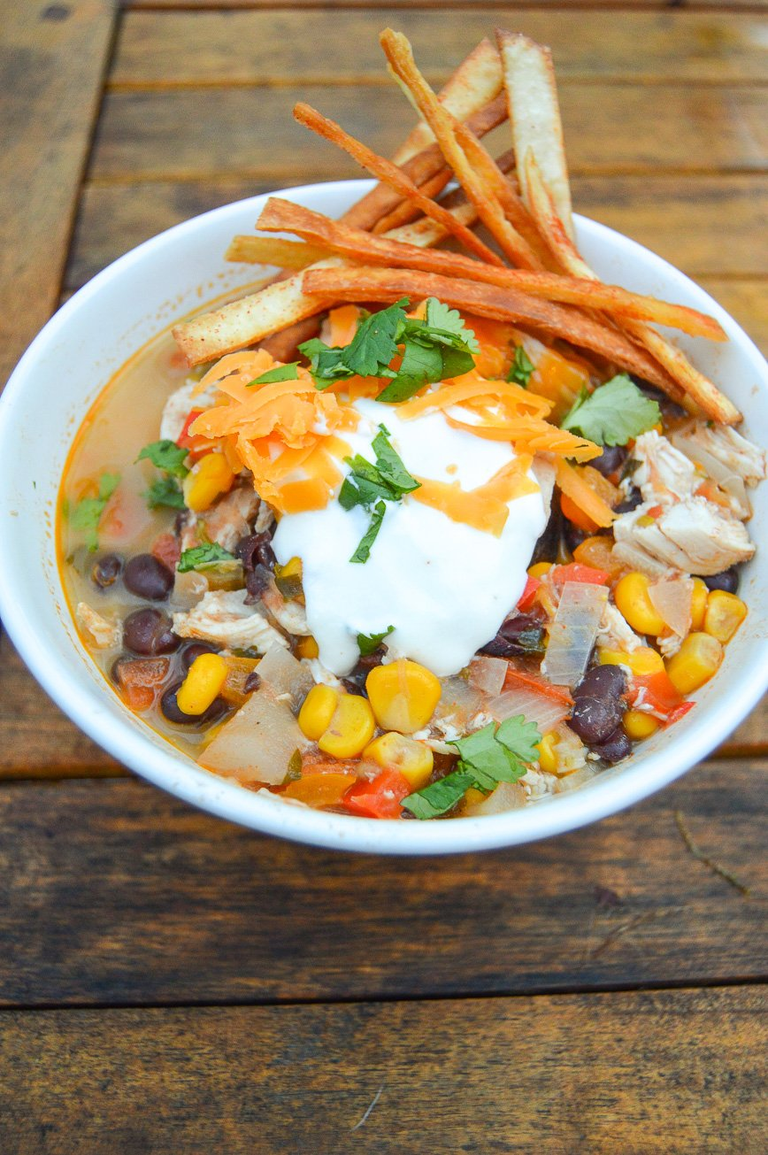 chicken tortilla soup bowl