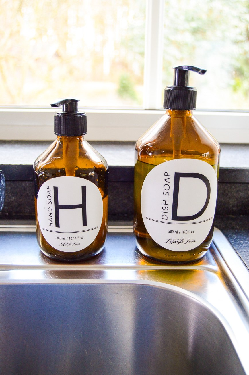 kitchen sink makeover - soaps