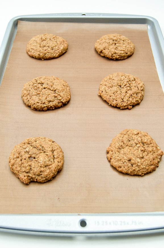 oatmeal cream pie-baking