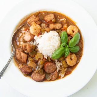 Chicken, Sausage and Seafood Gumbo