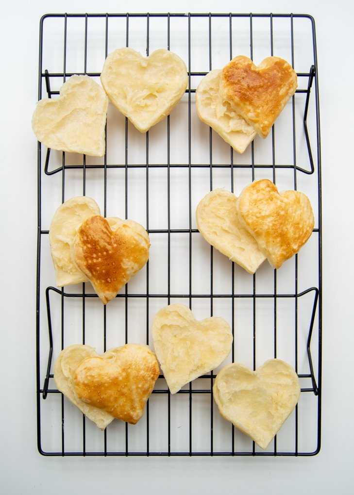 puff pastry hearts open