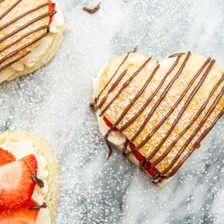 puff pastry valentines hearts
