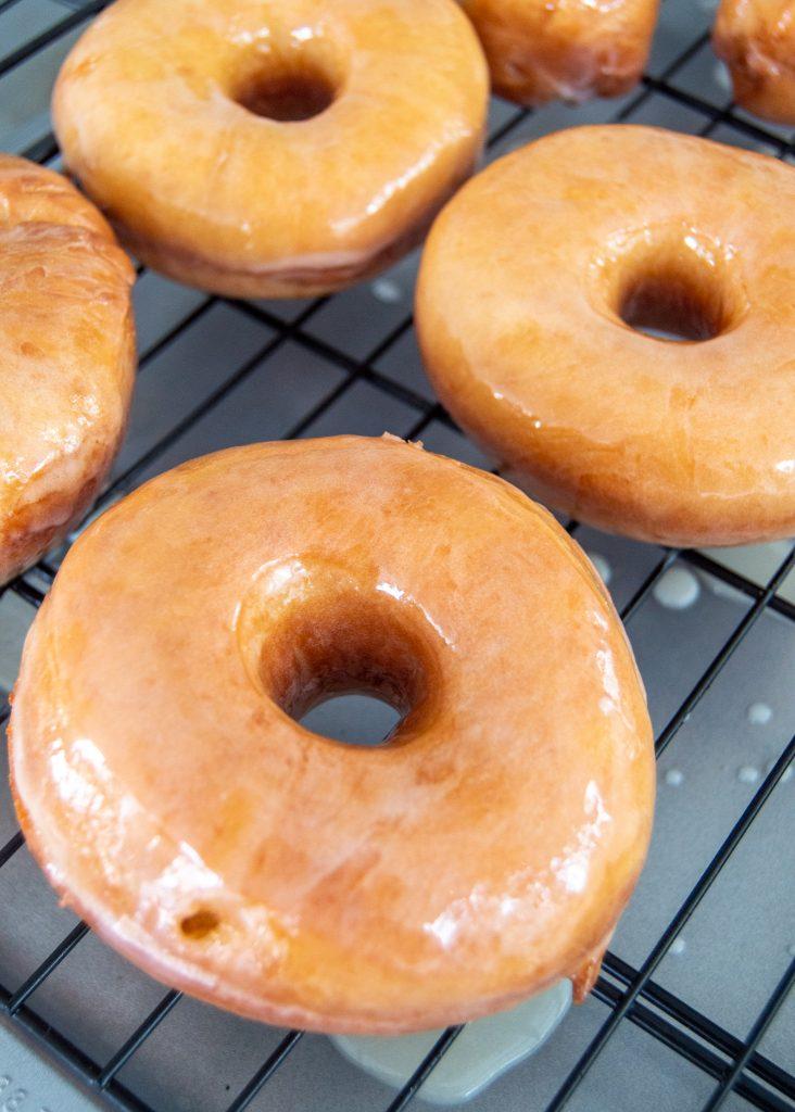 glazed donuts rack
