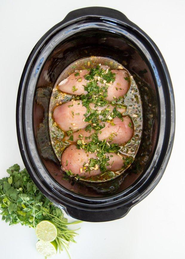 cilantro lime chicken-prep